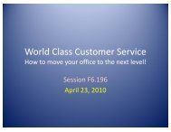 World-Class Customer Service: How to Move Your Office ... - AACRAO