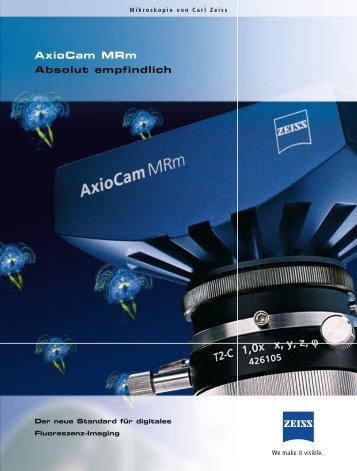 AxioCam MRm - Absolut empfindlich - Carl Zeiss