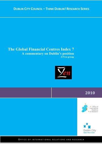 Dublin's Position in GFCI 7 Final Report - Dublin City Council