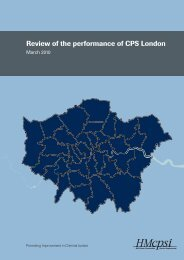 Review of the performance of CPS London - HMCPSI