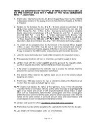 terms and conditions for the supply of items as per the schedules on ...