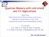 Quantum Memory with cold atoms and it's Applications