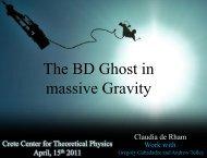 Claudia de Rham - Crete Center for Theoretical Physics