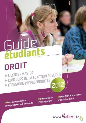Guide étudiant Droit 2012 - Vuibert
