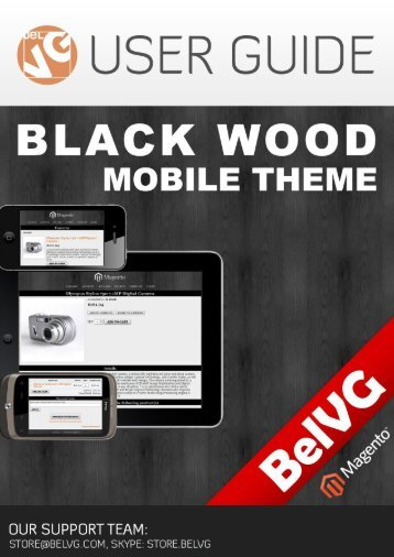 Black Wood Mobile Theme - BelVG Magento Extensions Store
