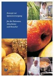 Konzept zur Speisenversorgung für die Patienten, Mitarbeiter und
