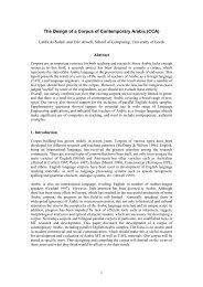 Survey of corpus work on Arabic: - School of Computing - University ...