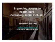 increasing social inclusion - Offender Health Research Network