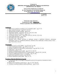 Medicină - Facultatea de Medicina si Farmacie Oradea