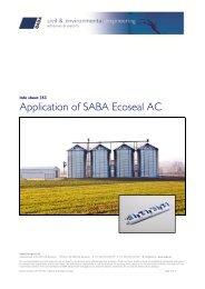 Aanbrengen SABA Ecoseal AC