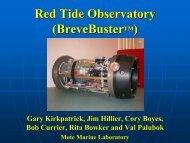 Red Tide Observatory (BreveBuster™) - College of Marine Science ...