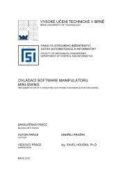 MINI-SWING - Ústav automatizace a informatiky - Vysoké učení ...