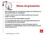 Stress ist grenzenlos - IG Metall Gaggenau