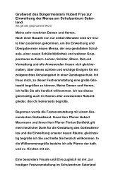 Grußwort des Bürgermeisters Hubert Frye zur ... - Saterland