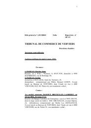 jugement PAQUAY Charles et PAQUAY Carine c - Juridat