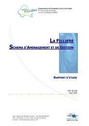 LA FILLIERE - Les documents techniques sur l'eau