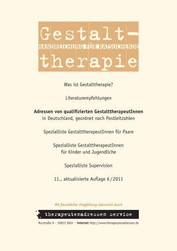 Handreichung für Ratsuchende - Gestalttherapie