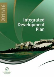 Kwadukuza IDP 2011 - KZN Development Planning