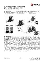 Wege-Magnetventil-Patronen NG 5