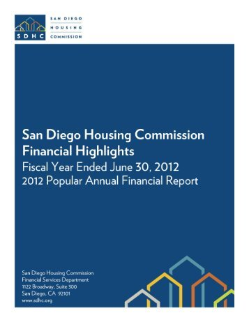2012 Popular Annual Financial Report - San Diego Housing ...
