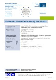 ETA-11/0352 - bei Powers Europe