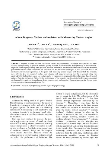 A New Diagnosis Method on Insulators with Measuring ... - inass