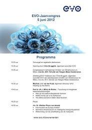 EVO-Jaarcongres 5 juni 2012 Programma
