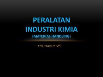 peralatan industri kimia (material handling)