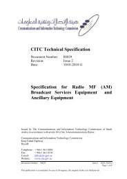 (AM) Broadcast Services Equipment and Ancillary Equipment