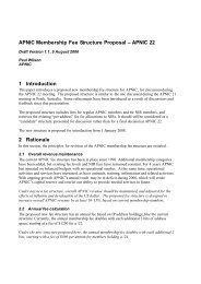 APNIC Membership Fee Structure Proposal – APNIC 22 1 ...