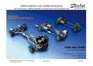 Elektromotoren in der mobilen Anwendung - hofer powertrain GmbH
