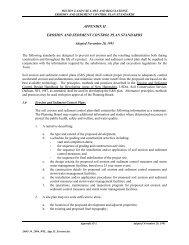 appendix ii erosion and sediment control plan standards