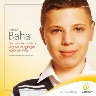 Therapiebroschüre für Eltern - Cochlear Baha