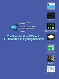 Applications include - Global Lighting Technologies, Inc.