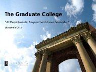 The Graduate College at Illinois