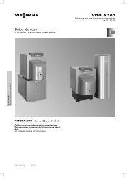 Datos técnicos Vitola 200 VB2A682 KB - Viessmann