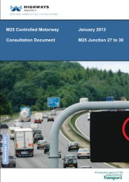 M25 Managed Motorways J27 - Highways Agency