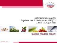 13: Präsentation zur Pressekonferenz [11. Oktober 2011] - Agrana