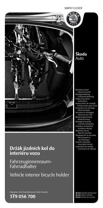 Držák jízdních kol do interiéru vozu Fahrzeuginnenraum ...