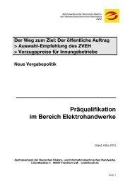Informationen zur Präqualifikation - KFE