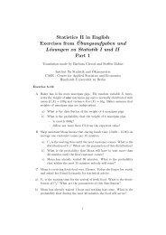 Statistics II in English Exercises from ¨Ubungsaufgaben und ...