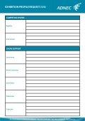EXHIBITION PROFILE REQUEST (1/6) - ADNEC - Page 5