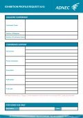 EXHIBITION PROFILE REQUEST (1/6) - ADNEC - Page 6