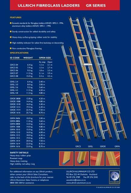 Fibreglass Ladders Leaflet - Ullrich Aluminium