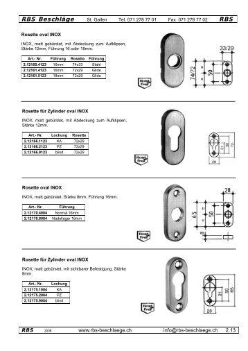 INOX-Rosetten - Rbs-beschlaege.ch