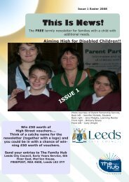 ISSUE 1 This Is News! - Leeds Parent Partnership Service