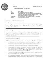 Form 09-3e Academic Year 2009-10 Drug-Testing Consent - NCAA ...