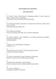 BELSŐ KÖRNYEZET MINŐSÉGE Záróvizsga kérdések 1. a) A belső ...