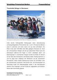 Schulpflege Primarschule Berikon Pressemitteilung