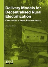 Delivery Models for Decentralised Rural Electrification Case studies ...